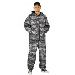"""Костюм """"МАСКХАЛАТ"""" куртка/брюки, цвет: кмф """"Цифра св.серый"""", ткань: Сорочечная"""