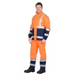 """Костюм """"ТЕРМИНАЛ-3"""" : куртка, п/к оранжевый с темно-синим"""