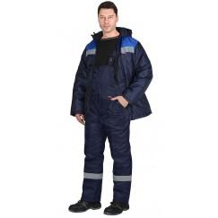 """Костюм """"Рост-Норд"""" куртка, п/к, т-синий с васильковым тк.Оксфорд"""