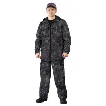 """Костюм """"ТУРИСТ 2"""" куртка/брюки цвет: кмф """"Питон черный"""""""
