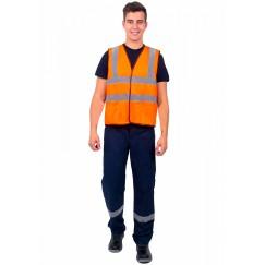 Жилет сигнальный Неон с карманами СОП-4  оранжевый